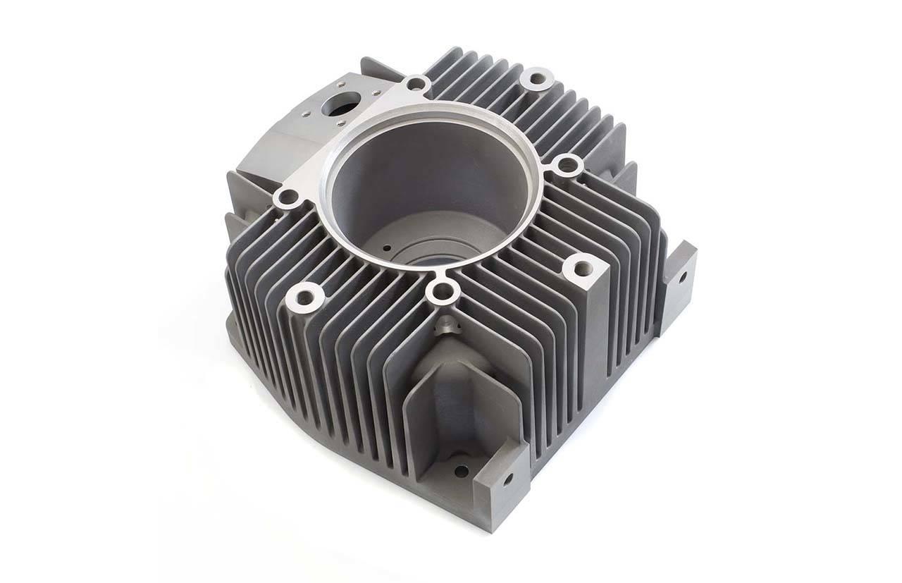 Electric Motor End Cap. Machined Precision Sand Cast Aluminium L169 TF 12.6 Kg 390mmx390mmx300mm